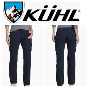 ❄️ Kuhl Outdoor Cargo Hiking Pants Sz 6 Navy Blue